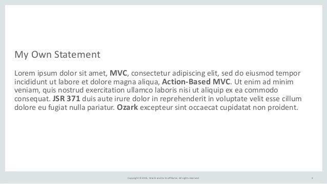 MVC 1.0 / JSR 371 Slide 3