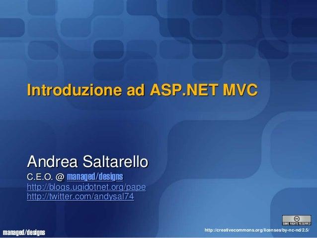 Slide Workshop Commit University ASP.NET MVC