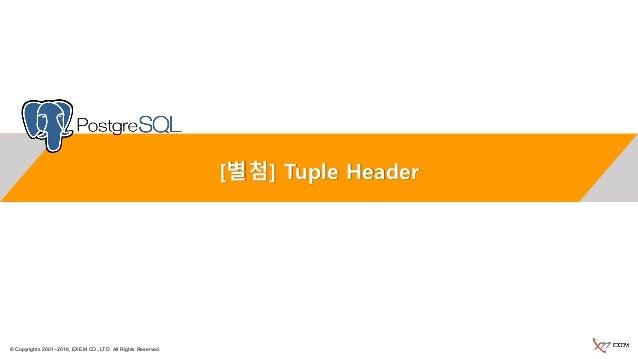 © Copyrights 2001~2016, EXEM CO.,LTD. All Rights Reserved. [별첨] Tuple Header