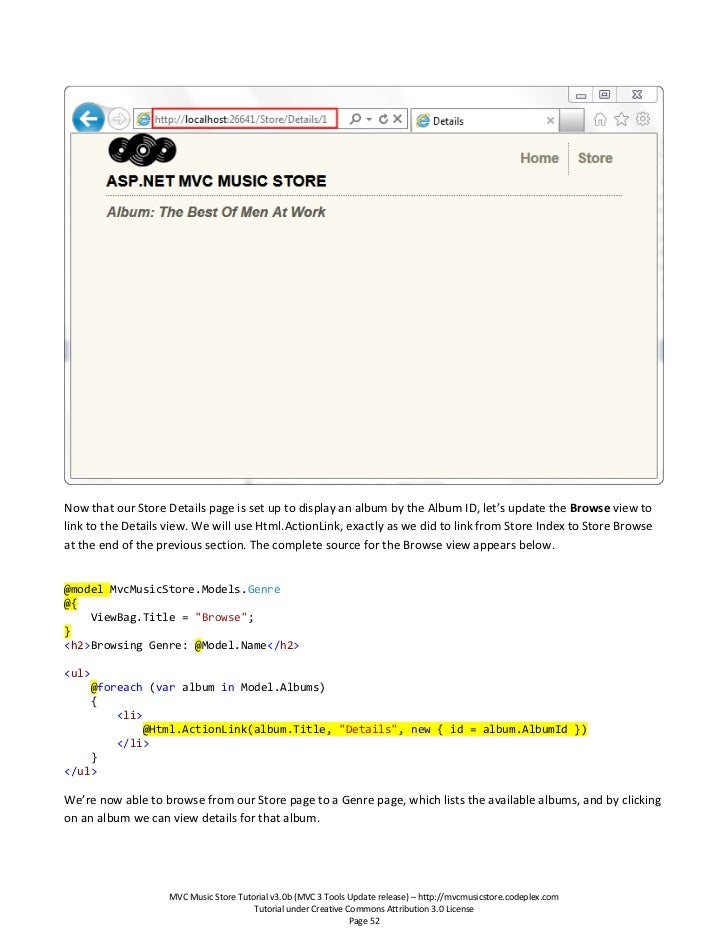 Mvc music store tutorial - v3 0