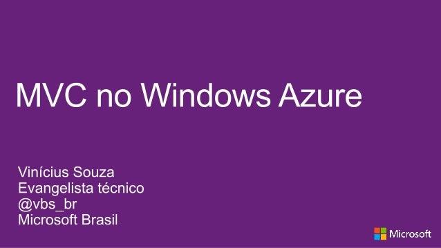 Aplicação MVC no Windows Azure