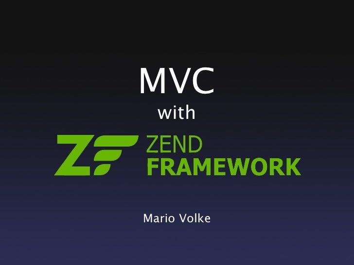 MVC   with     Mario Volke