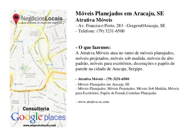 Móveis Planejados em Aracaju, SE Atrativa Móveis - Av. Francisco Porto, 283 - Grageru0Aracaju, SE - Telefone: (79) 3231-65...