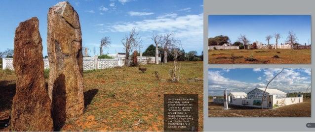 A gauche et en bas à droite : Au centre en haut et en bas : Les tombeaux Antandroy et Mahafaly, les deux ethnies de la rég...