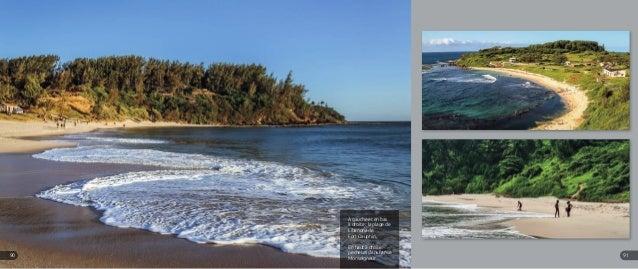 A gauche et en bas à droite : la plage de Libanona de Fort Dauphin. En haut à droite : pêcheurs dans l'anse Monseigneur 91...