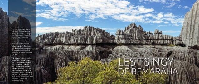 Un paysage karstique et un massif calcaire fortement déchiquetéformentun«tsingy» ou « forêt » d'éperons calcaires, paysage...