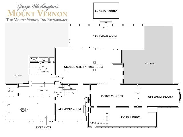 Mount Vernon Inn Restaurant Floor Plan