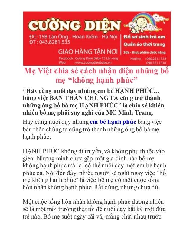 """Mẹ Việt chia sẻ cách nhận diện những bố mẹ """"không hạnh phúc"""" """"Hãy cùng nuôi dạy những em bé HẠNH PHÚC... bằng việc BẢN THÂ..."""