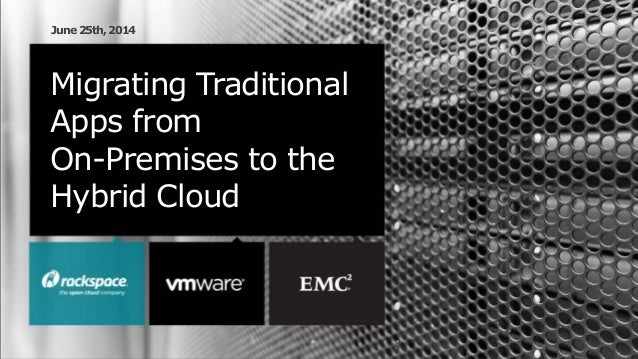 Migrating Traditional Apps from On-Premises to the Hybrid Cloud