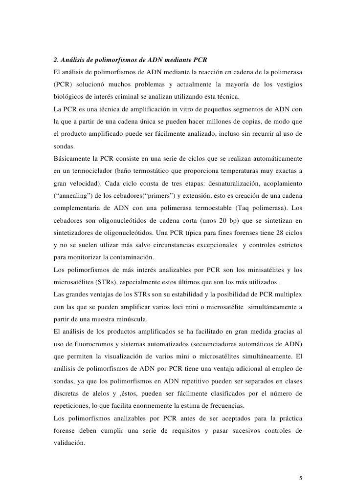 2. Análisis de polimorfismos de ADN mediante PCREl análisis de polimorfismos de ADN mediante la reacción en cadena de la p...