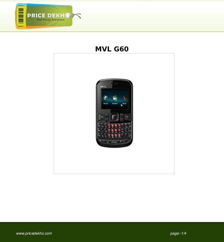 MVL G60www.pricedekho.com             page:-1/4