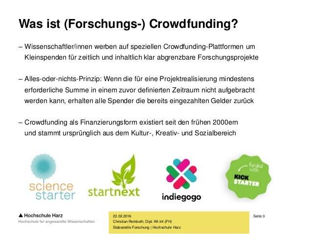 Crowdfunding für Museen – eine attraktive Finanzierungsmöglichkeit? Slide 3