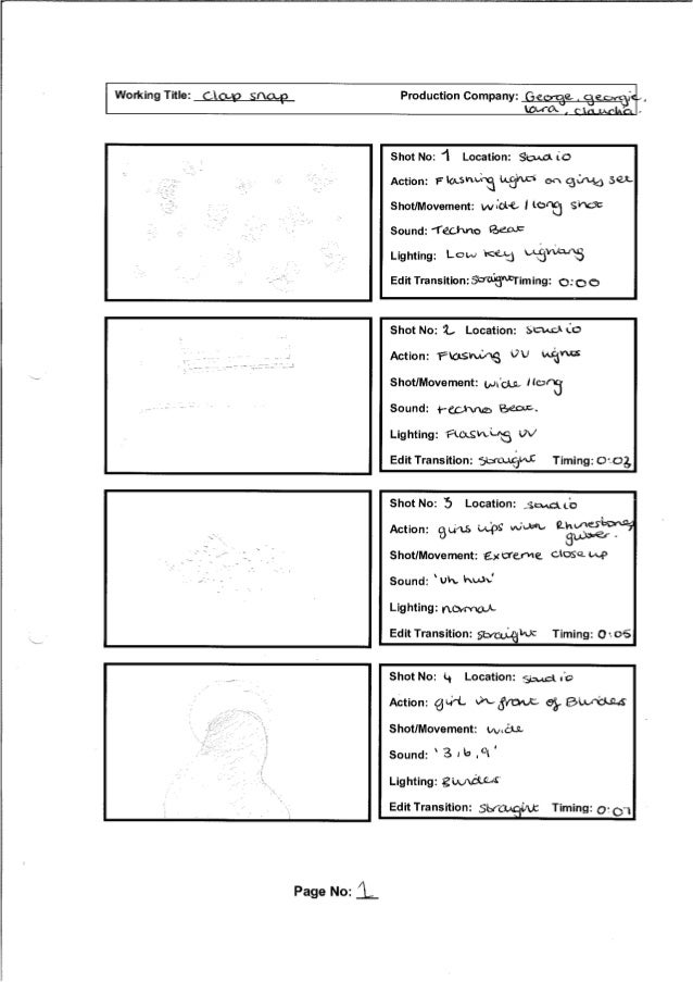 Music Video Storyboard