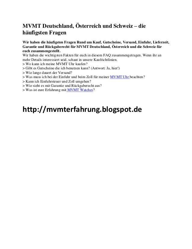 MVMT Deutschland, Österreich und Schweiz – die häufigsten Fragen Wir haben die häufigsten Fragen Rund um Kauf, Gutscheine,...