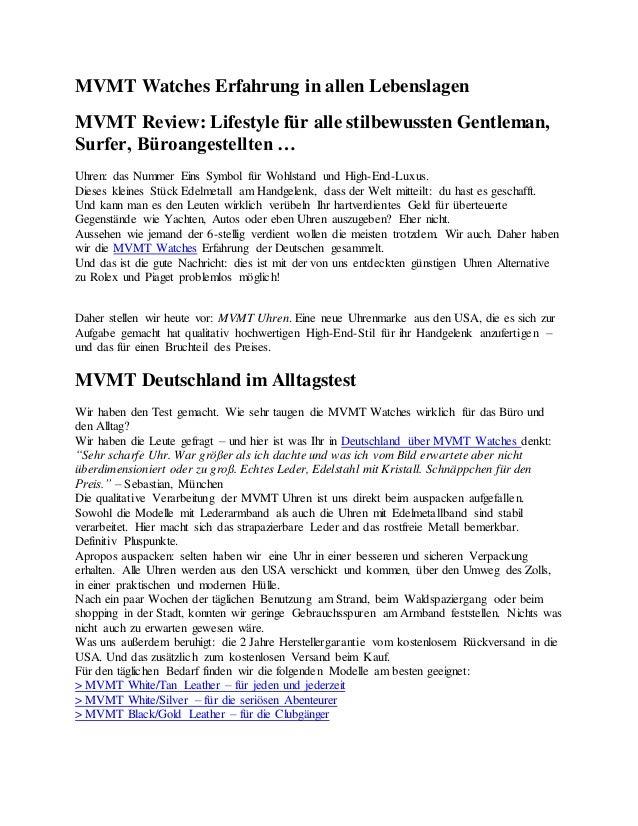 MVMT Watches Erfahrung in allen Lebenslagen MVMT Review: Lifestyle für alle stilbewussten Gentleman, Surfer, Büroangestell...
