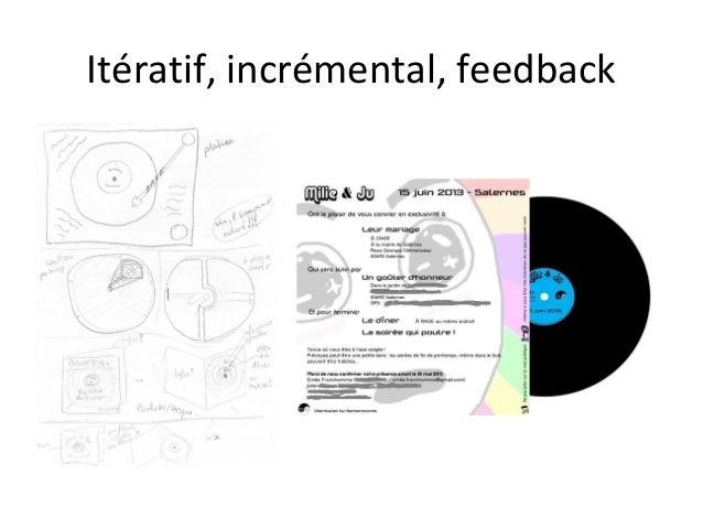 Itératif, incrémental, feedback