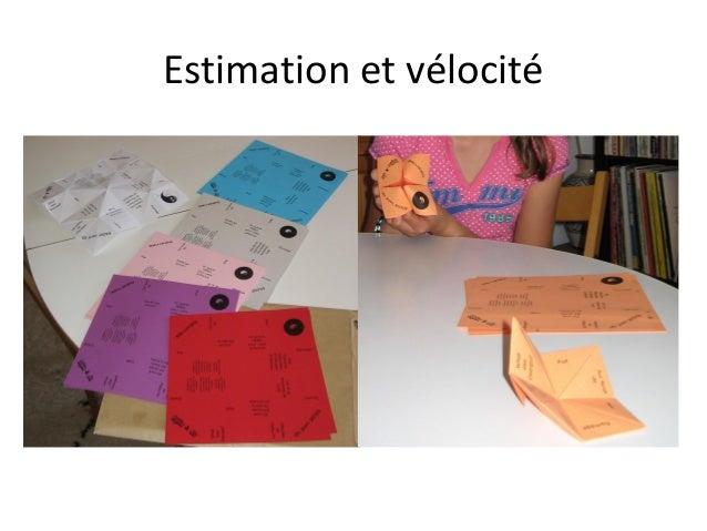 Estimation et vélocité