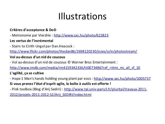 Illustrations Critères d'acceptance & DoD - Metronome par Vierdrie : http://www.sxc.hu/photo/622823 Les vertus de l'incrém...