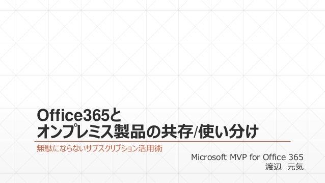 Office365とオンプレミス製品の共存(MVP Community Camp 2015)
