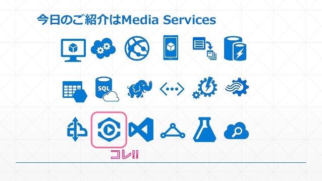 今日のご紹介はMedia Services