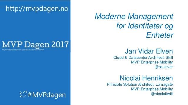 Modern Management for Identiteter og Enheter – Azure AD