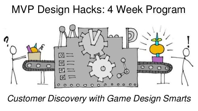 MVP Design Hacks: 4 Week Program Customer Discovery with Game Design Smarts