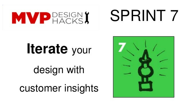 Iterate your  design with  customer insights  SPRINT 7