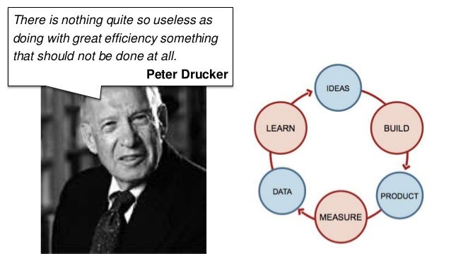 There is nothing quite so useless as  doing with great efficiency something  that should not be done at all.  Peter Drucke...