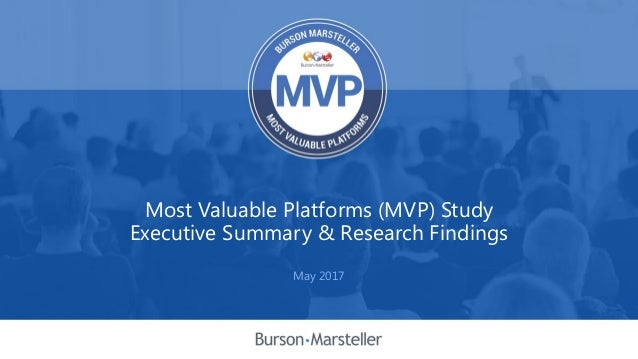 Most Valuable Platforms (MVP) Study Executive Summary & Research Findings May 2017