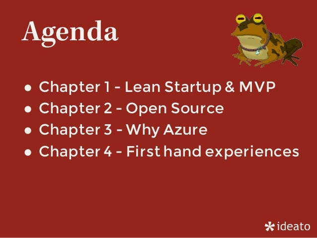 MVP & Startup, with OpenSource Software and Microsoft Azure Slide 3