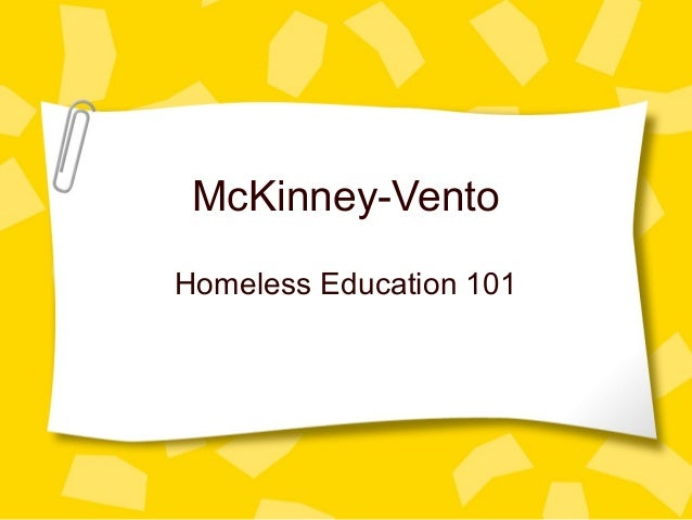 McKinney-Vento Homeless Education 101