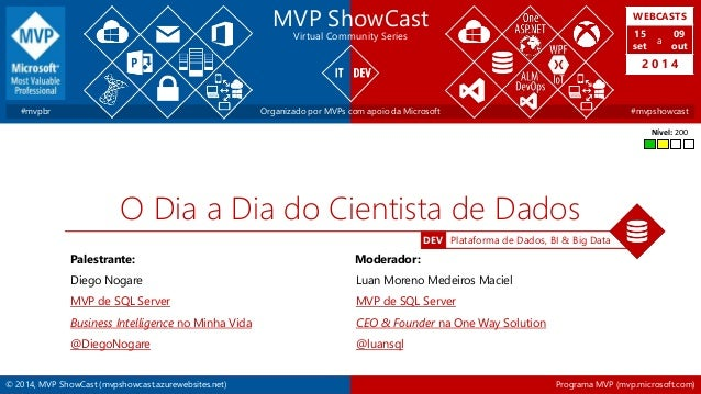 WEBCASTS  15  set  2 0 1 4  DEV Plataforma de Dados, BI & Big Data  MVP ShowCast  Virtual Community Series  a  09  out  #m...