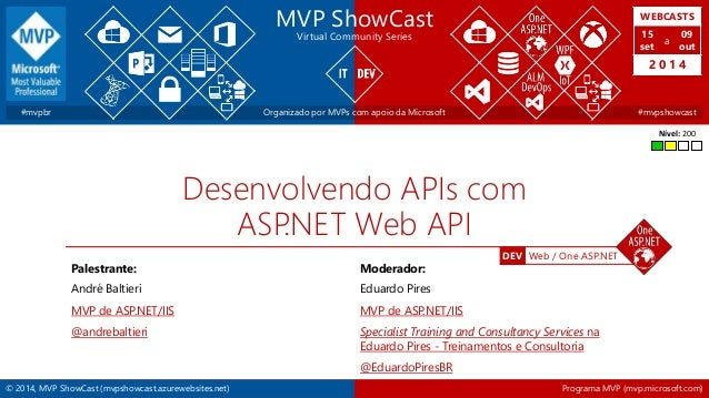 WEBCASTS  15  set  2 0 1 4  DEV Web / One ASP.NET  MVP ShowCast  Virtual Community Series  a  09  out  #mvpbr Organizado p...
