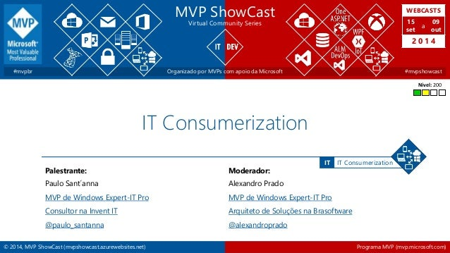 © 2014, MVP ShowCast (mvpshowcast.azurewebsites.net) Programa MVP (mvp.microsoft.com) IT ConsumerizationIT MVP ShowCast Vi...