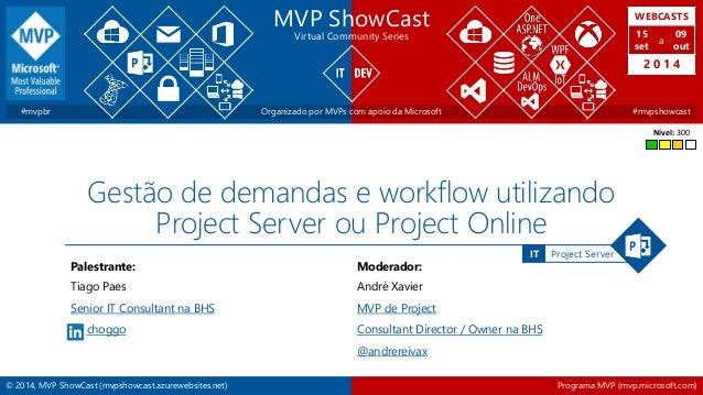 WEBCASTS  15  set  2 0 1 4  IT Project Server  MVP ShowCast  Virtual Community Series  a  09  out  #mvpbr Organizado por M...