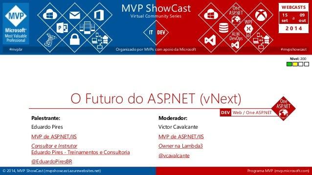 WEBCASTS  15  set  2 0 1 4  DEV Web / One ASP.NET  MVP ShowCast  Virtual Community Series  a  09  out  #mvpbr Organizado p...