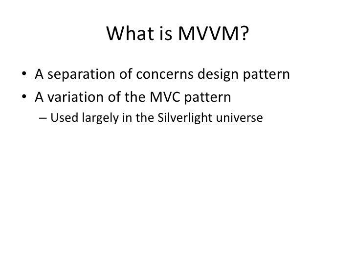 MVVM for n00bs Slide 2