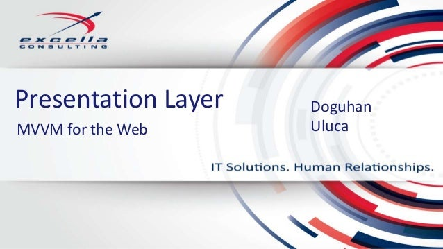 Presentation Layer DoguhanUlucaMVVM for the Web