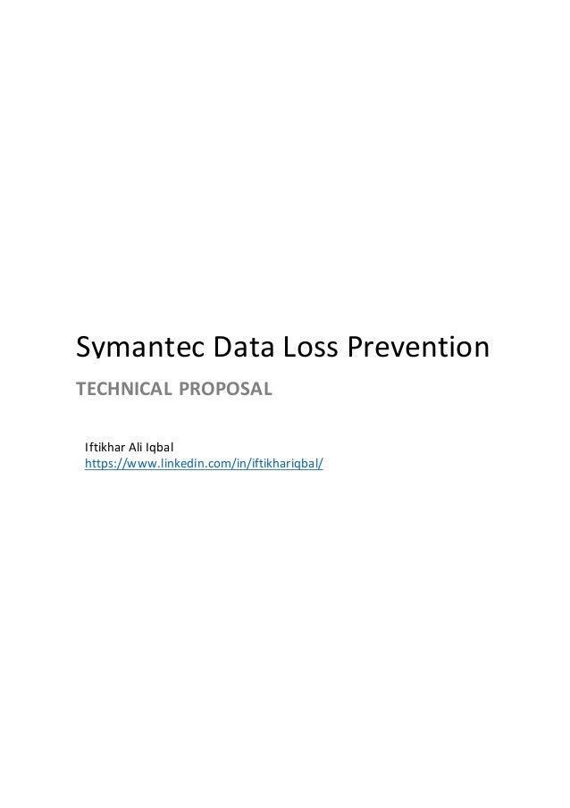 Symantec Data Loss Prevention - Technical Proposal (General)