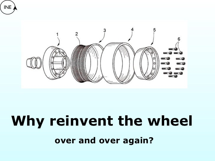 INE  Why reinvent the wheel       over and over again?