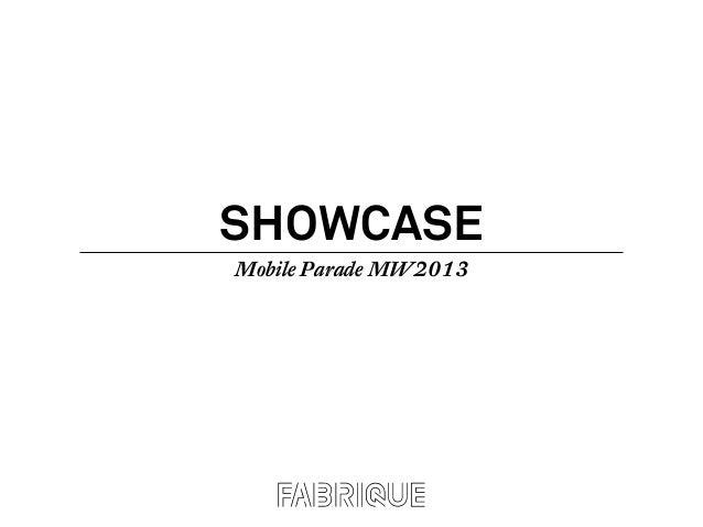 SHOWCASEMobile Parade MW2013