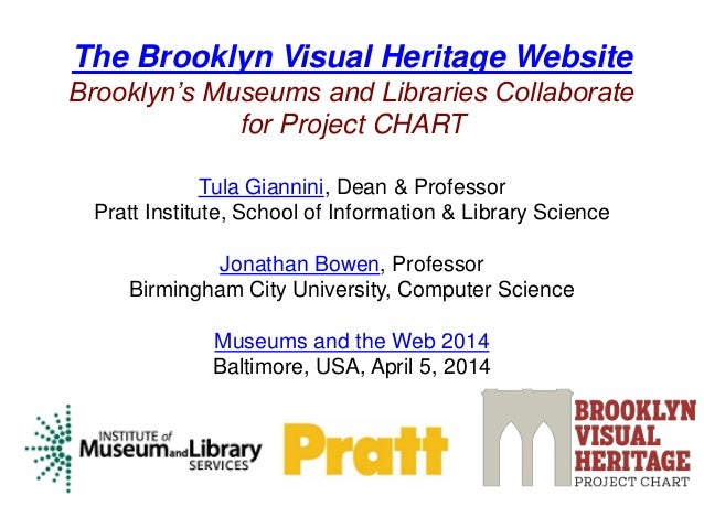 The Brooklyn Visual Heritage Website Brooklyn's Museums and Libraries Collaborate for Project CHART Tula Giannini, Dean & ...