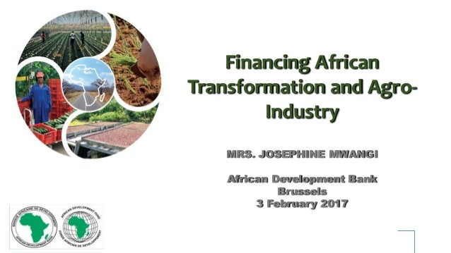 Financing African Transformation and Agro- Industry MRS. JOSEPHINE MWANGI African Development Bank Brussels 3 February 2017