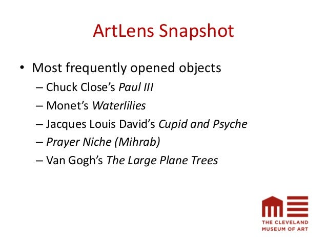 ArtLens Snapshot • 14,324 objects shared from the Collection Wall • 356 visitor tours were created and shared • 315 total ...