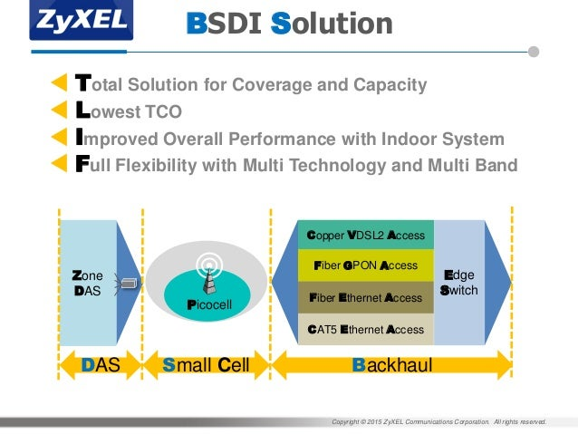ZyXEL MWC 2015: BSDI Solution - Backhaul Small Cell DAS Integration