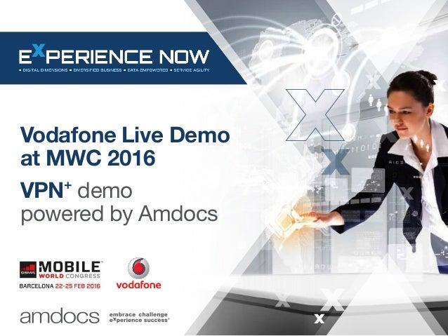 Vodafone Live Demo at MWC 2016 VPN+ demo powered by Amdocs