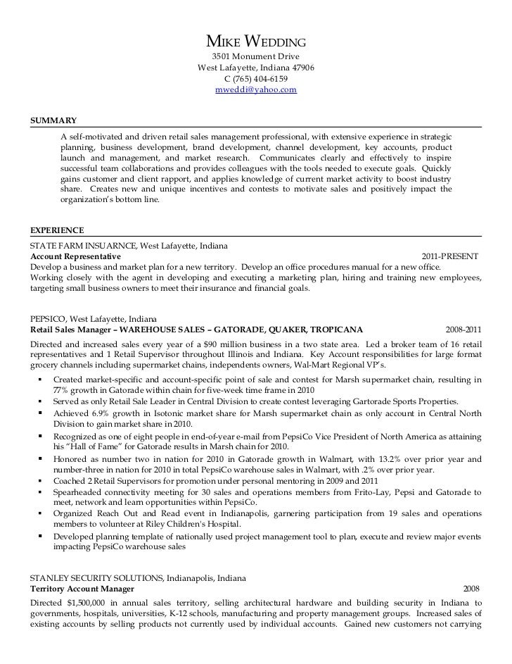 Mike Wedding Resume