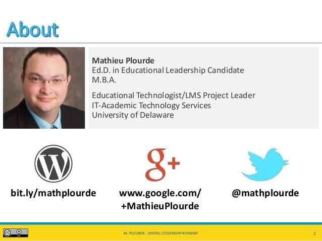 Digital Citizenship, Activism, and Social Media #UDMWF Slide 2