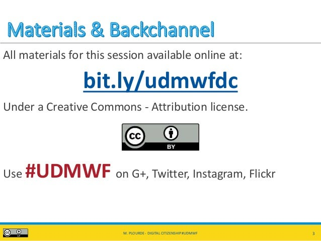 Digital Citizenship, Activism, and Social Media #UDMWF Slide 3