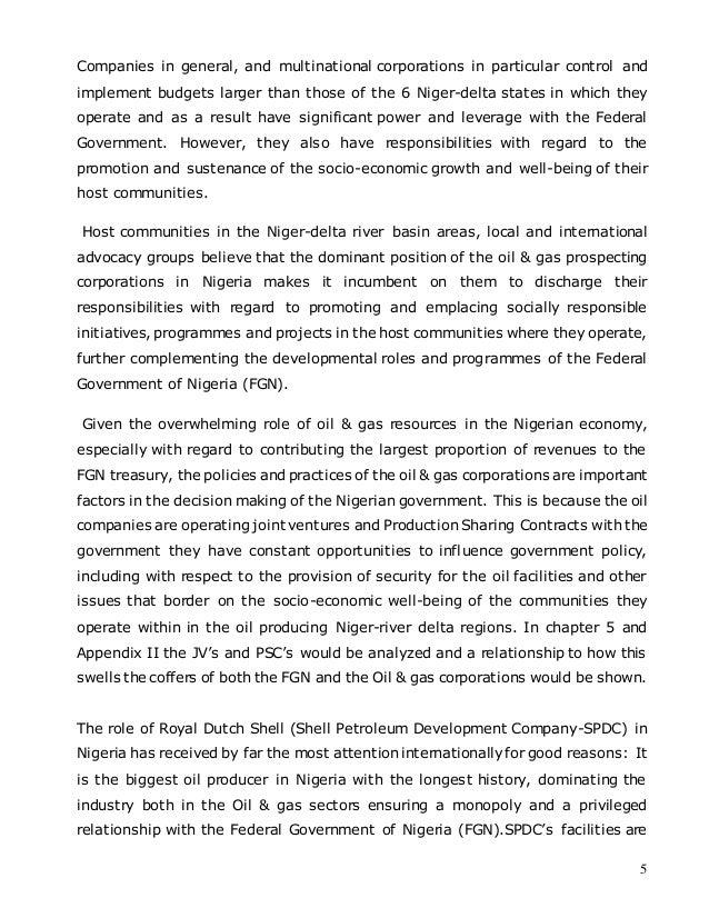dissertation on corporate social responsibility in nigeria He said 'corporate social responsibility is a jettison corporate social responsibility: make it corporate our dissertation writing service.